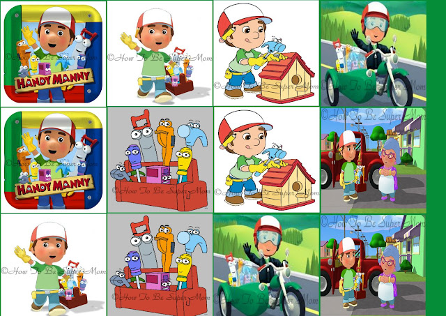 handy manny memory game