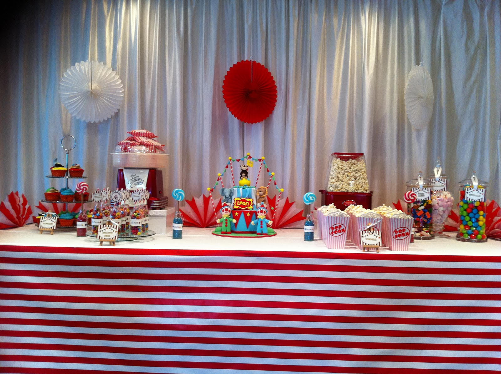 Events By Nat Leons Vintage Inspired Circus Themed Christening