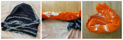 blocken, doek voor drogen in handdoek