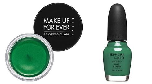 maquilaje verde esmeralda