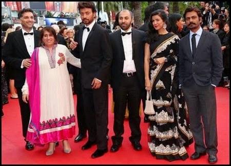 El equipo de The Lunchbox en el Festival de Cannes