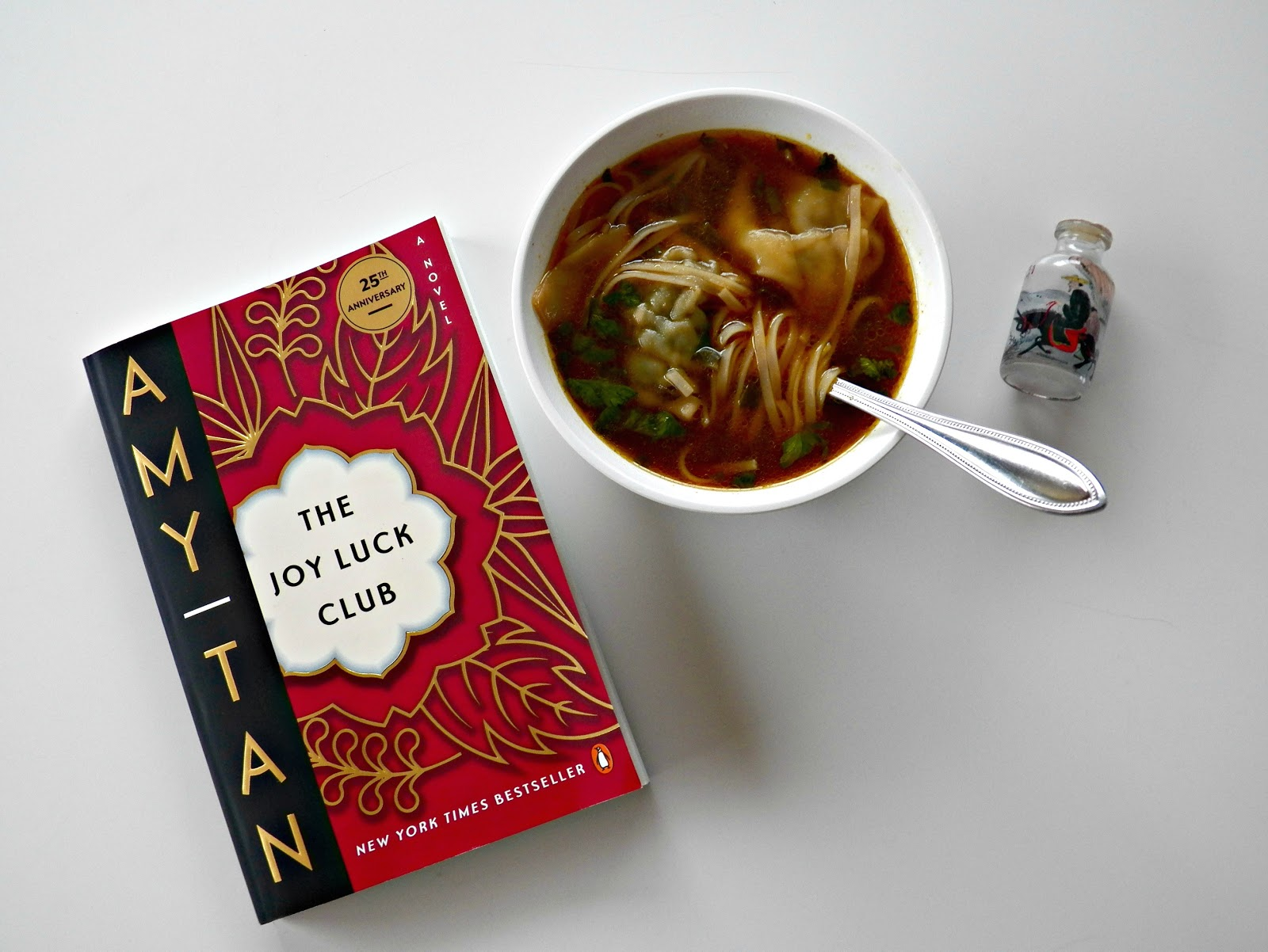 hannah heath 2016 i can now add two new items to my list of things that make me happy amy tan s writing and wonton soup while parts of the joy luck club