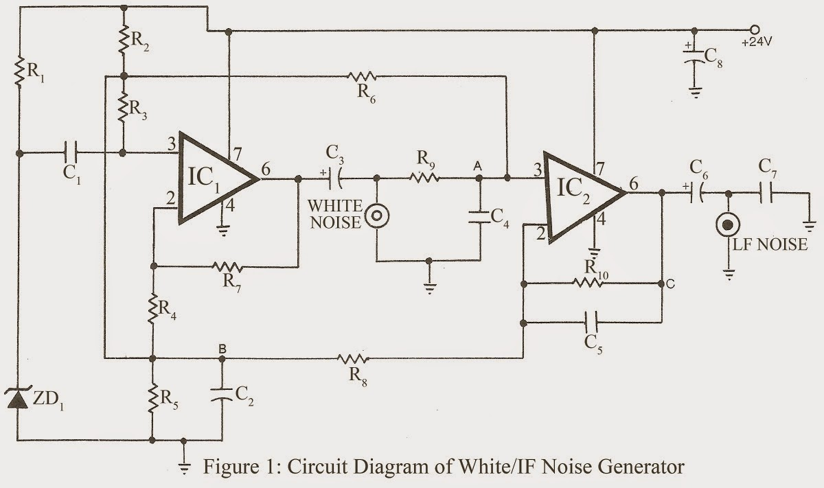 White / LF Noise Generator - Simple Circuit Projects