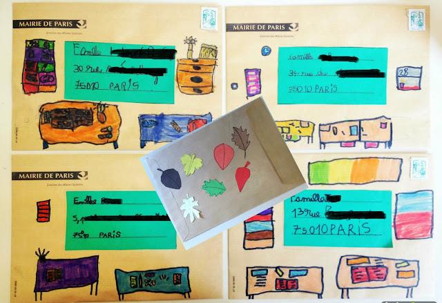 blog maman enfant famille maîtresse école paris projet écriture lettre correspondance