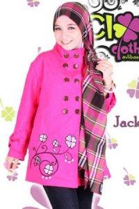 Clover Clothing Jacket - Pink (Toko Jilbab dan Busana Muslimah Terbaru)