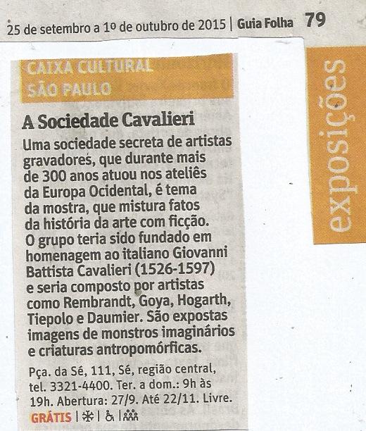 A SOCIEDADE CAVALIERI | GUIA DA FOLHA | FSP