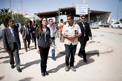 Angelina Jolie, Libya-Tunisia border, World , world news, world business news, world news today, world headlines, world news headlines, current world news, world news online