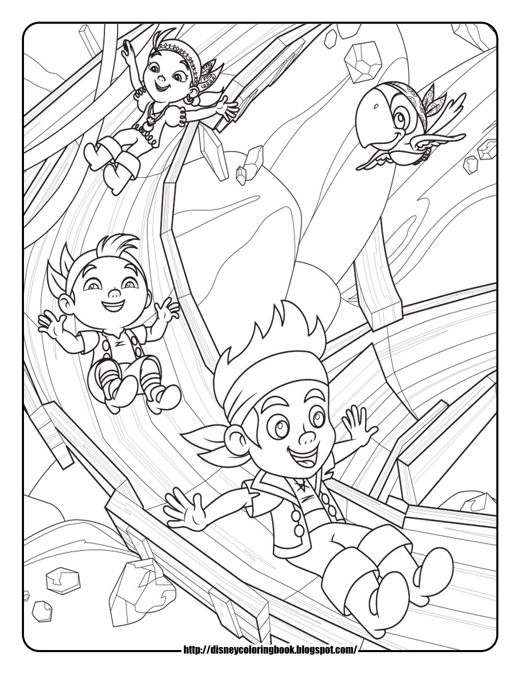 disney pirates coloring pages - photo#26