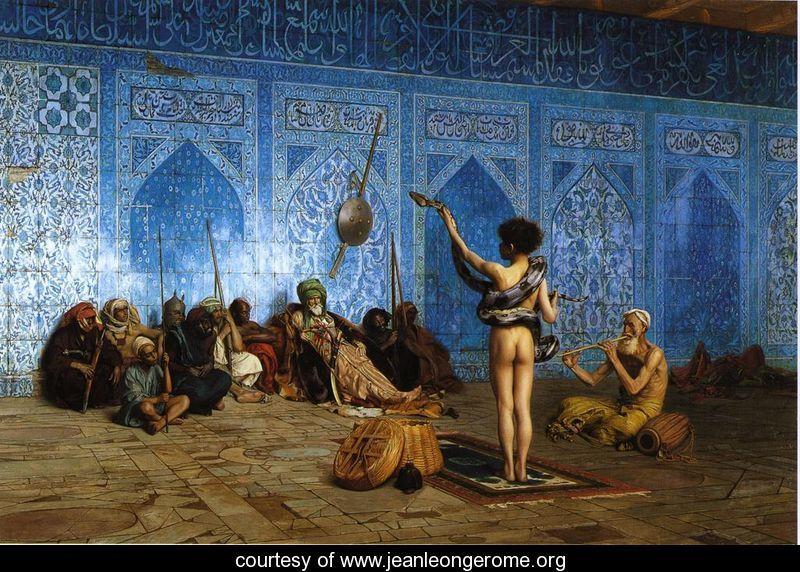 Cami içinde Yılanın büyülenmesi.islama ve osmanlıya saldırı.