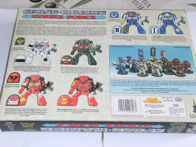 Contraportada de la Caja de Space Marine Strike Force para Warhammer 40K
