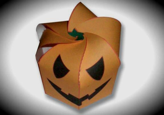 Papercraft imprimible y armable de una Caja de caramelos Día de todos los Santos / Halloween Box. Manualidades a Raudales.
