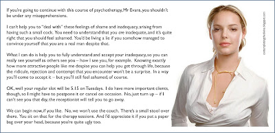 Sneering domme psychiatrist...yum