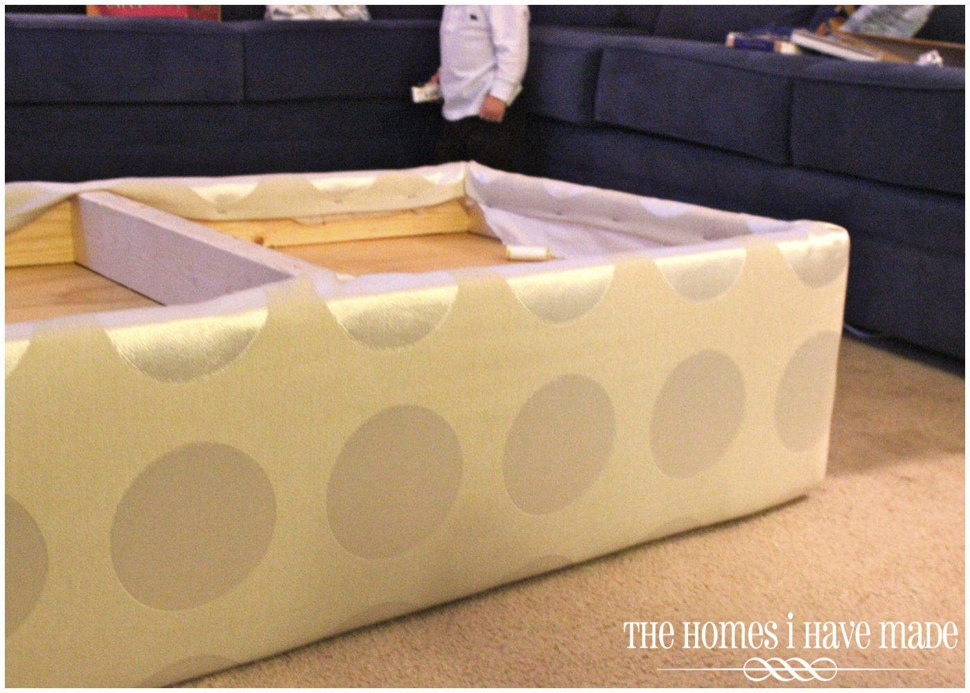 How to Make an Oversized Ottoman {Tutorial} | The Homes I Have Made