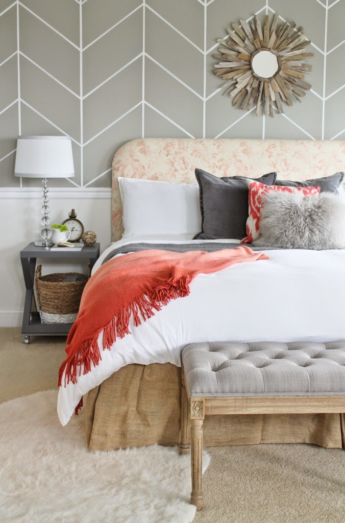 Eat Sleep Decorate An Accent Wall With Wallpaper Master Bedroom