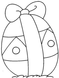 desenhos pra colorir Ovos de páscoa com laço