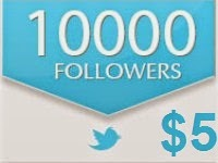 10000 Twitter Followers $5