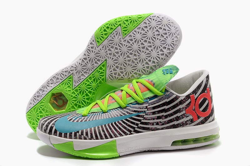 2014 New Nike Zoom KD VI Kevin Durant Basketball Shoes   Grey