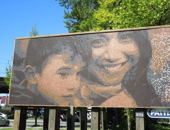 Vancity mosaic pennies billboard
