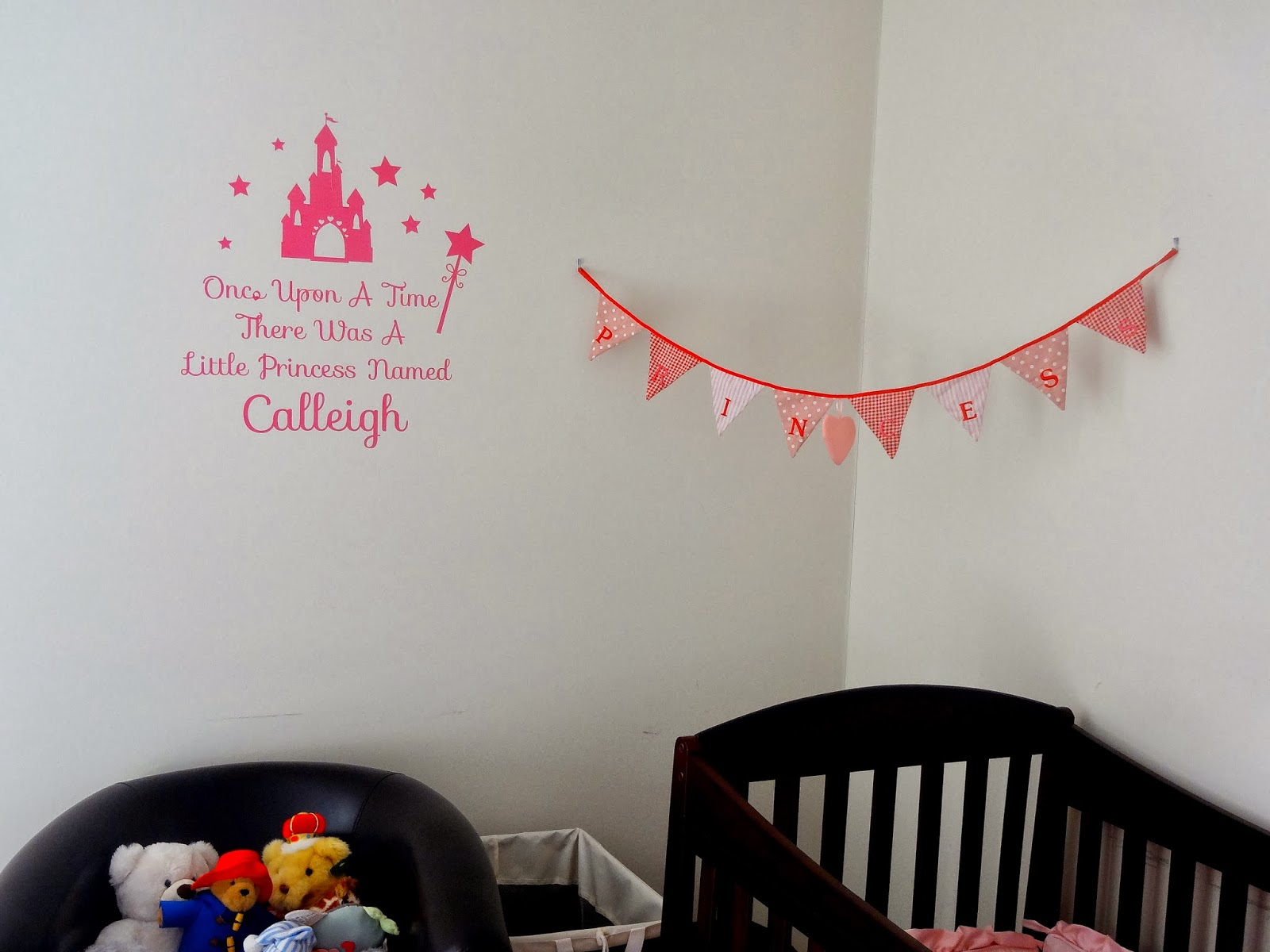Simple I love the wall sticker it really adds a personal touch to Calleigh us room I am really looking forward to buying all her new