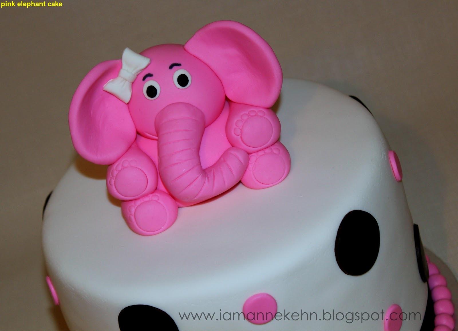 Pink Elephant Cake 2015