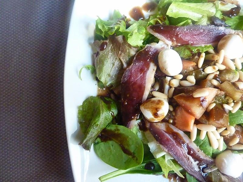 Salada de presunto de pato