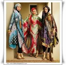 Baju Gaun Pesta muslimah Batik modern