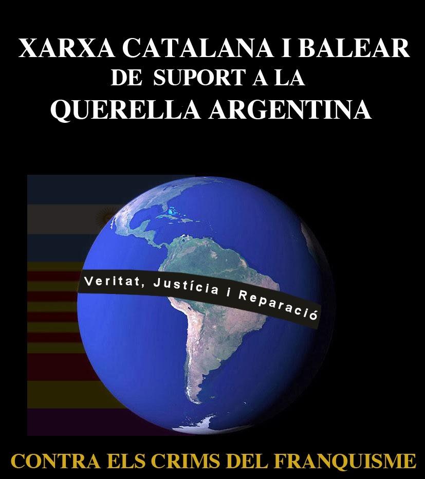 Blog Xarxa catalana i balear de suport a la querella argentina