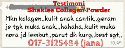 testimoni collagen shaklee