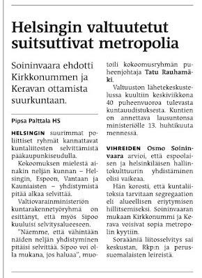 """Helsingin valtuutetut suitsuttivat metropolia"""