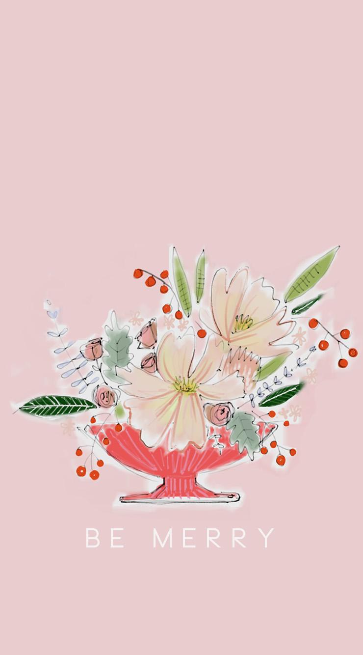 Simple Wallpaper Home Screen Floral - holidayscreen  HD_66866.jpg