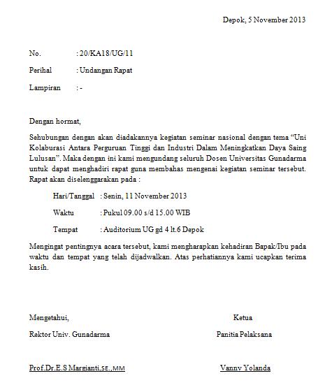 Contoh Format Surat Undangan Rapat   scrap of journey