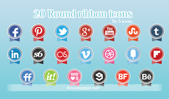 ribbon, icons, free, download, facebook, gratis