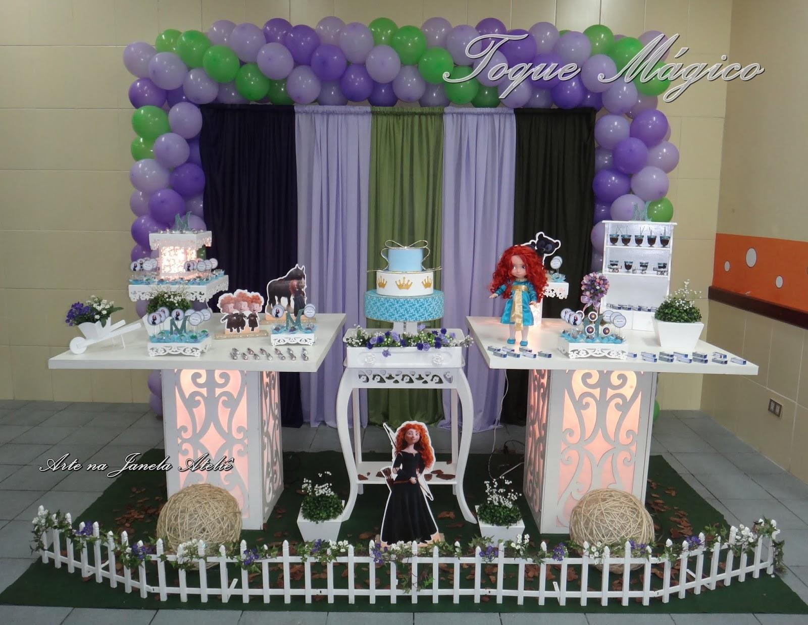 decoracao festa valente:Toque Mágico Festas: Merida – A Princesa Valente
