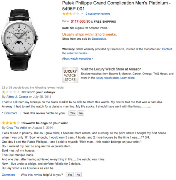 amazon expensive watch review