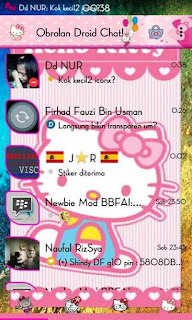 BBM Mod DroidChat Tema Hello Kitty Versi v2.9.0.49 Apk + Clone