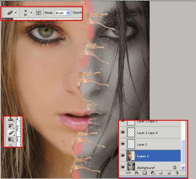splash efek photoshop, face splash , efek water photoshop