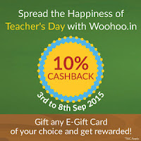 Woohoo App : E-Gift Cards 10% Cashback on Rs.2000