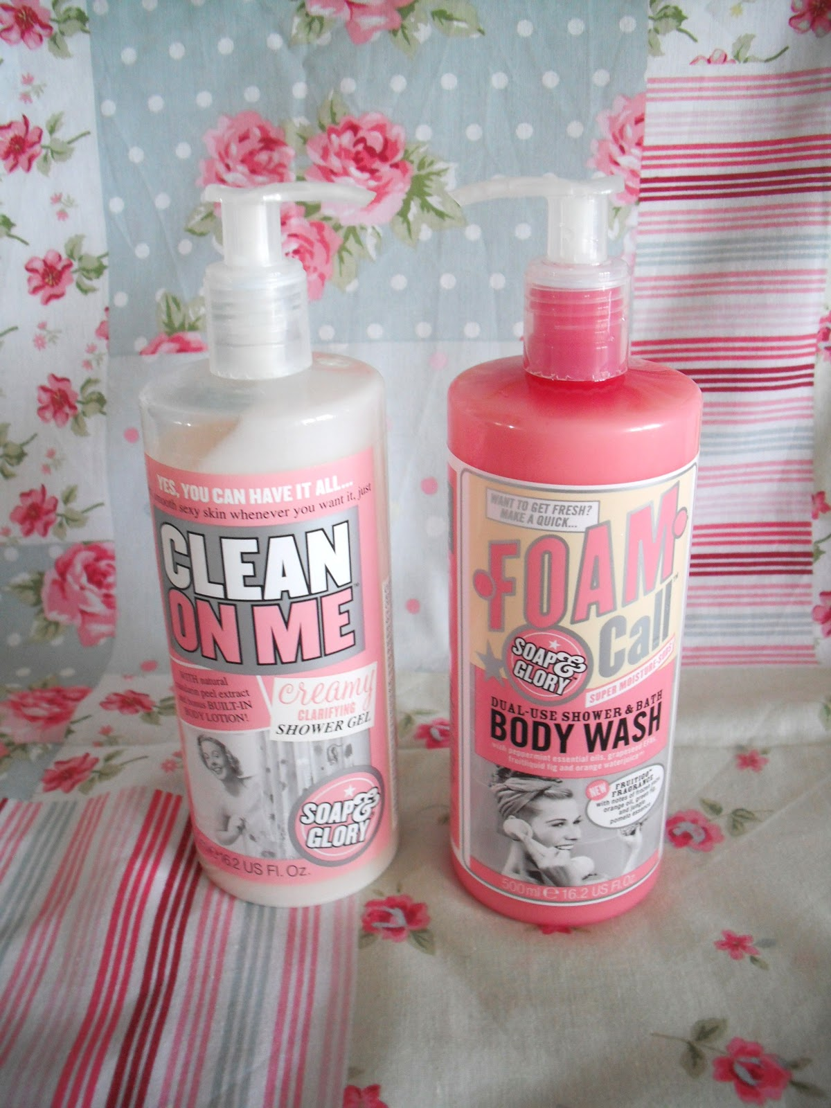 As You Can See, Both Shower Gels Are In A Tall Round Bottle With A Push  Lid, But The Clean On Me Is In A Clear Bottle, And The Foam Call Is ...