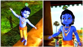 Gambar krishna kecil putra vrindavan
