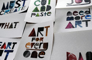 Art for Everyone Series by collage artist Megan Coyle