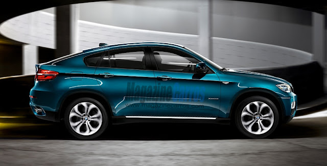 Lateral do Novo Bmw X6 2014