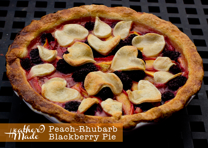 Peach-Rhubarb-Blackberry Pie