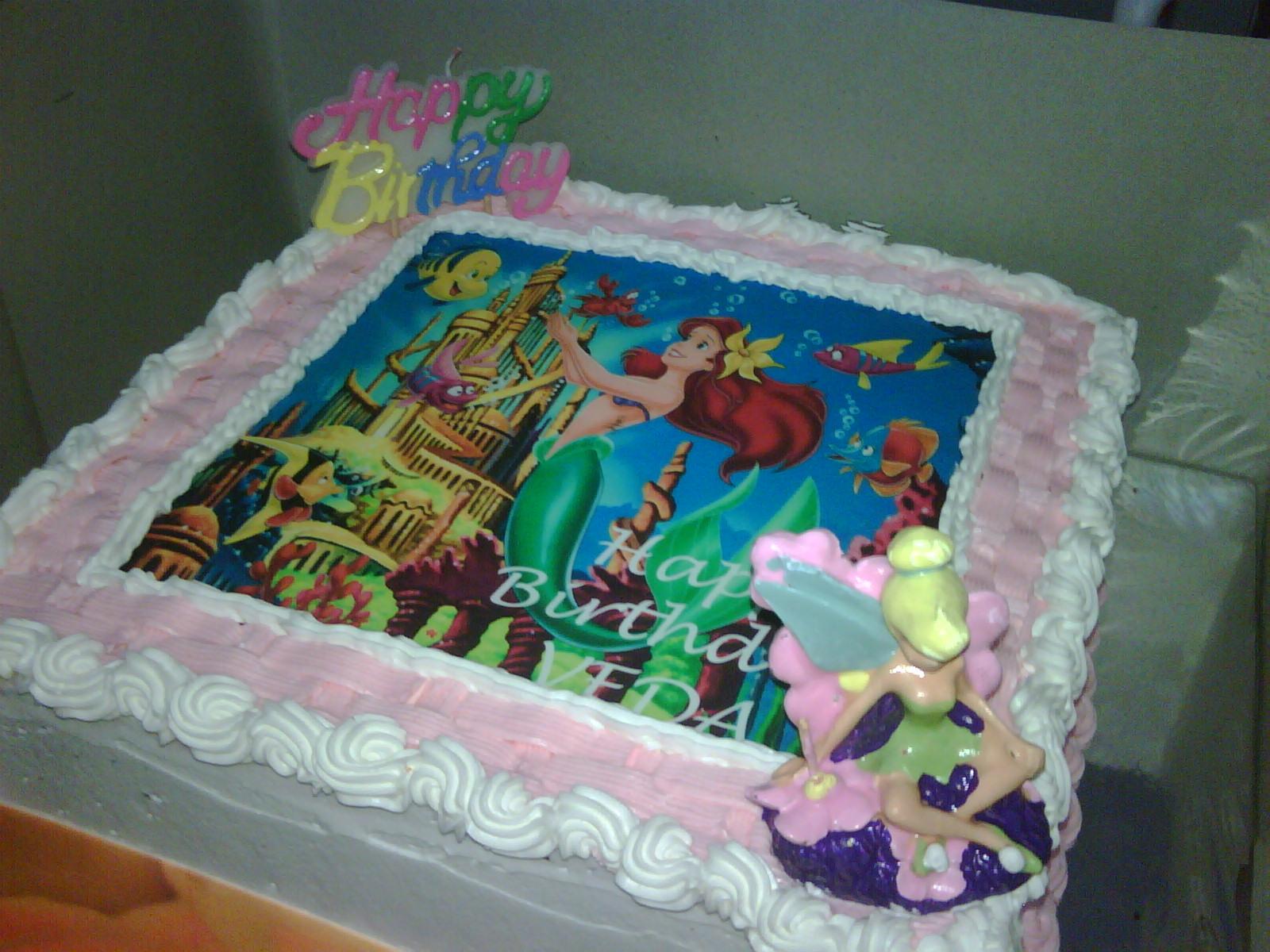 Manise Kitchen Princess Ariel Birthday Cake For Veda
