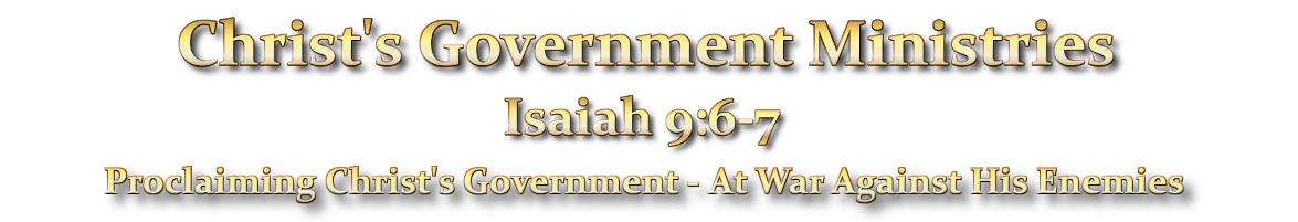 Christ's Government Ministries