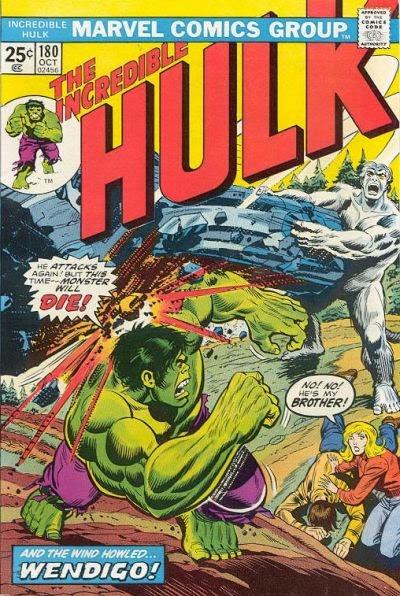Hulk #180, the Wendigo