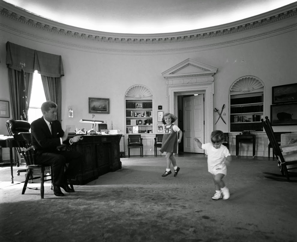 john f kennedy oval office. Caroline And John Dancing For Their Father In The Oval Office, October 10, 1962. Photo: Cecil Stoughton. F Kennedy Office W