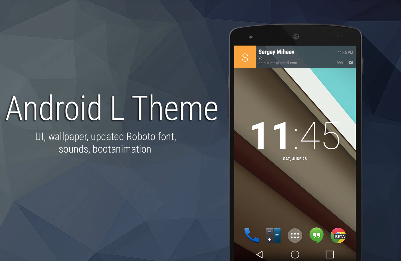 Android L Theme v1.1 - Experience The New Material Android