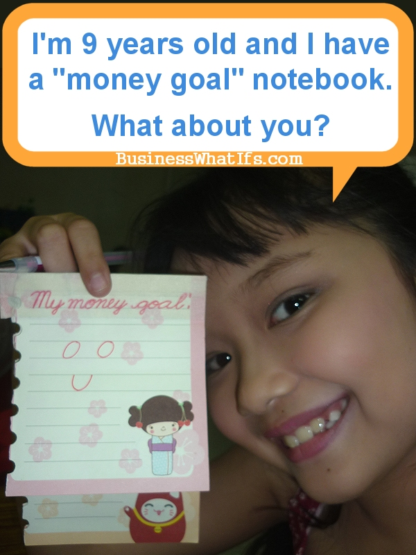 Junyka Santarin and her money goal notebook