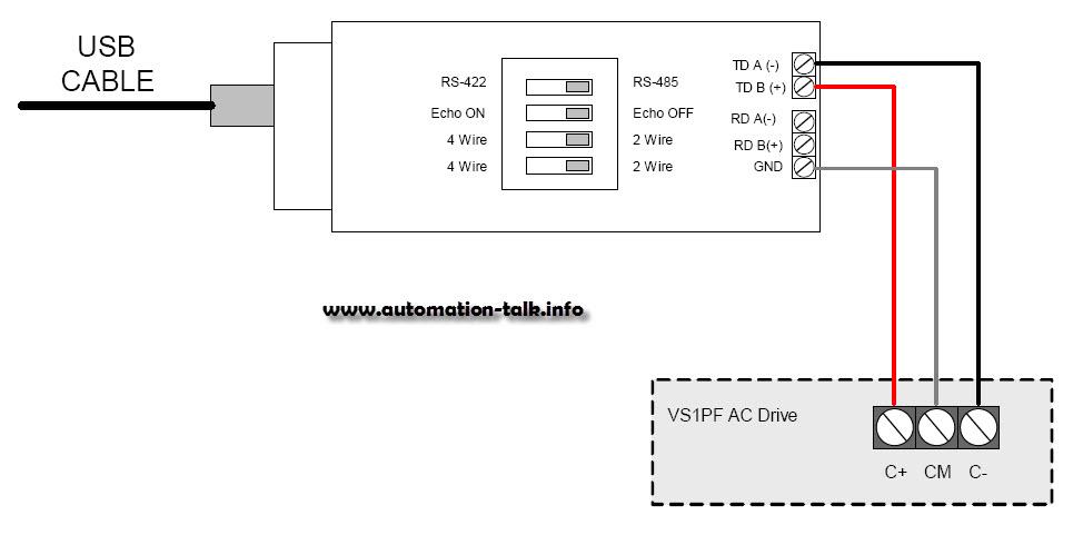 Rs modbus wiring diagram for vfd profibus