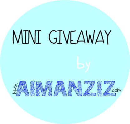 Mini Giveaway by www.AimanAziz.com